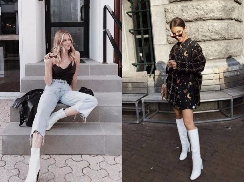 แฟชั่นรองเท้าบู๊ทส์สีขาวเก๋ๆ ที่สาวๆไม่ควรพลาด
