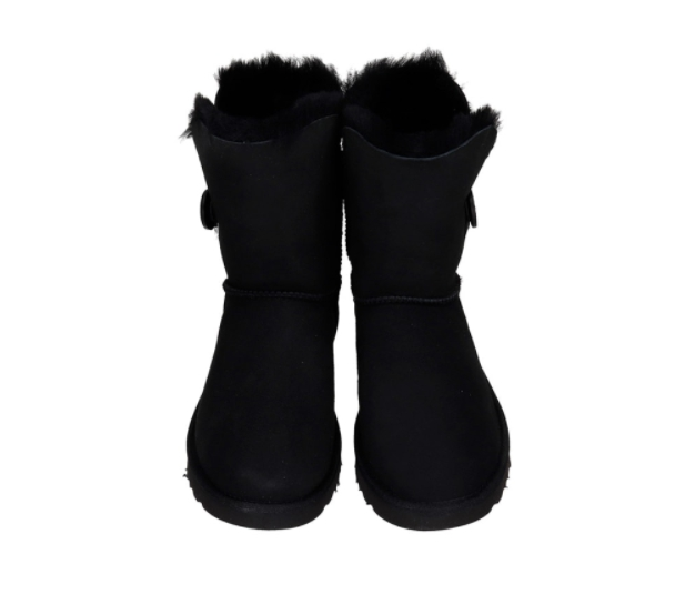 UGG Bailey Button I Low Heels Ankle Boots In Black Suede