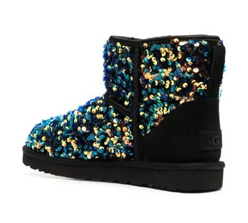 รองเท้า UGG Australia Stellar sequin-embellished ankle boots - Black